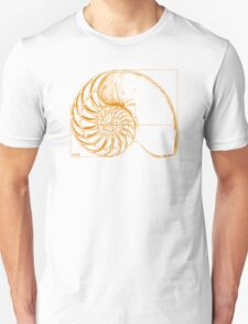 Fibonacci on a nautilus shell (orange) T-Shirt