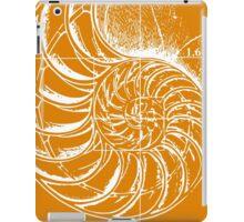 Fibonacci on a nautilus shell (orange) iPad Case/Skin