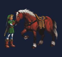 Ocarina of Time 3D Link and Epona Official Art by Hunter-Blaze