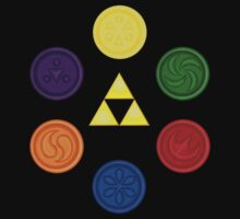 Triforce and Medallions of the Sages by Hunter-Blaze