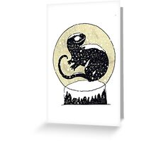Dinosaur Snowglobe Greeting Card