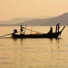 Long Tail Boat in Phang Nga Bay by Kevin Hellon