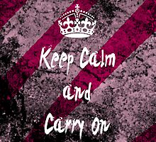 Keep Calm and Carry On Grunge iPhone Case by jzimm95
