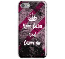 Keep Calm and Carry On Grunge iPhone Case iPhone Case/Skin