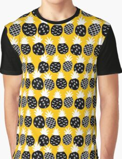 Black pineapple Graphic T-Shirt