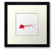 Ruby Red Heart Framed Print