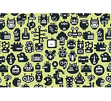 Robots faces green Photographic Print