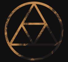 Triforce Design Beige (Gold Edition) by Hunter-Blaze