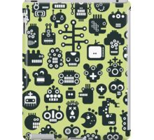 Robots faces green iPad Case/Skin