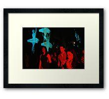 Art In The Night Framed Print