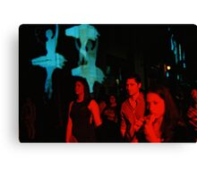 Art In The Night Canvas Print
