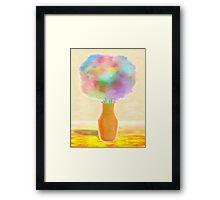 Cotton Candy Bouquet Framed Print
