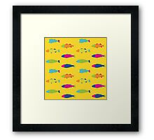 Fishes in Yellow Framed Print
