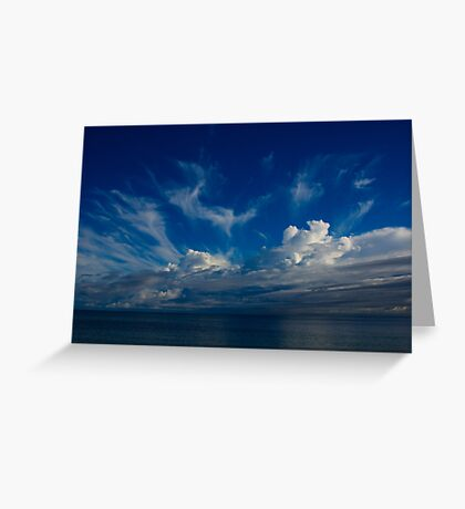 Storm clouds over Geographe bay Greeting Card