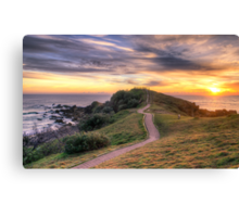 The Sunrise Path at Little Watego's Canvas Print