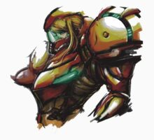 Samus Aran Paint Art by Hunter-Blaze