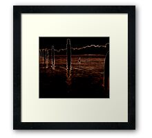 A silhouette of dawn Framed Print