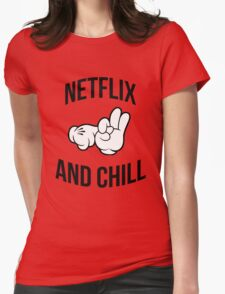 Netflix and chill - hands Womens Fitted T-Shirt