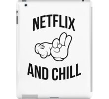 Netflix and chill - hands iPad Case/Skin