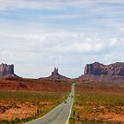 Driving to Monument Valley by Rachel Gagne