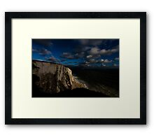 White Luminance Framed Print