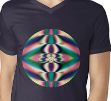 Rainbow Mirror Mens V-Neck T-Shirt