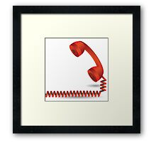 red telephone Framed Print