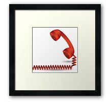 red telephone Framed Print
