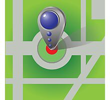 Icon of map marker Photographic Print