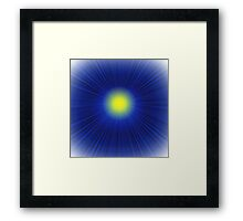 blue background with sun Framed Print