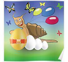 easter snail Poster