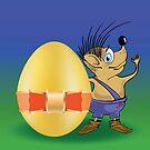 hedgehog and easter egg by valeo5