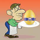 waiter and easter egg by valeo5