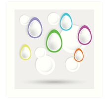 easter eggs paper  background Art Print
