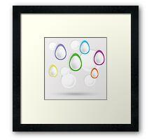 easter eggs paper  background Framed Print