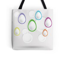 easter eggs paper  background Tote Bag