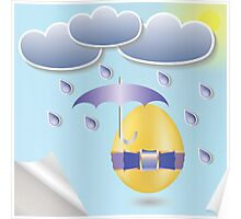 easter eggs and umbrella Poster
