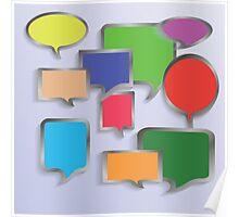 speech bubbles Poster
