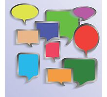 speech bubbles Photographic Print
