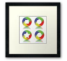 set of icons Framed Print