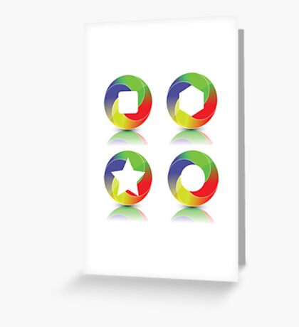 set of icons Greeting Card