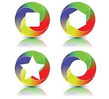 set of icons Photographic Print