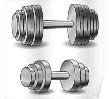 two dumbbells Poster