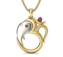 Gold Ruby Pendant by jemsw