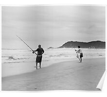 Fishing at Sedgefield South Africa Poster