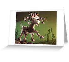 Super Cabra (goat) Greeting Card