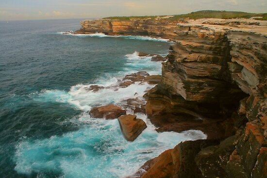 Rugged Australian coastline at Cape Solander by Michael Matthews