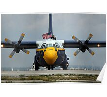 Blue Angels Support Plane Poster