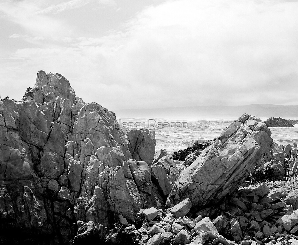 Buffalo Bay rock and sea view by Henry Deacon