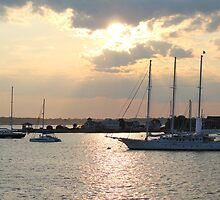 Sunset on Narragansett Bay 5 by reendan